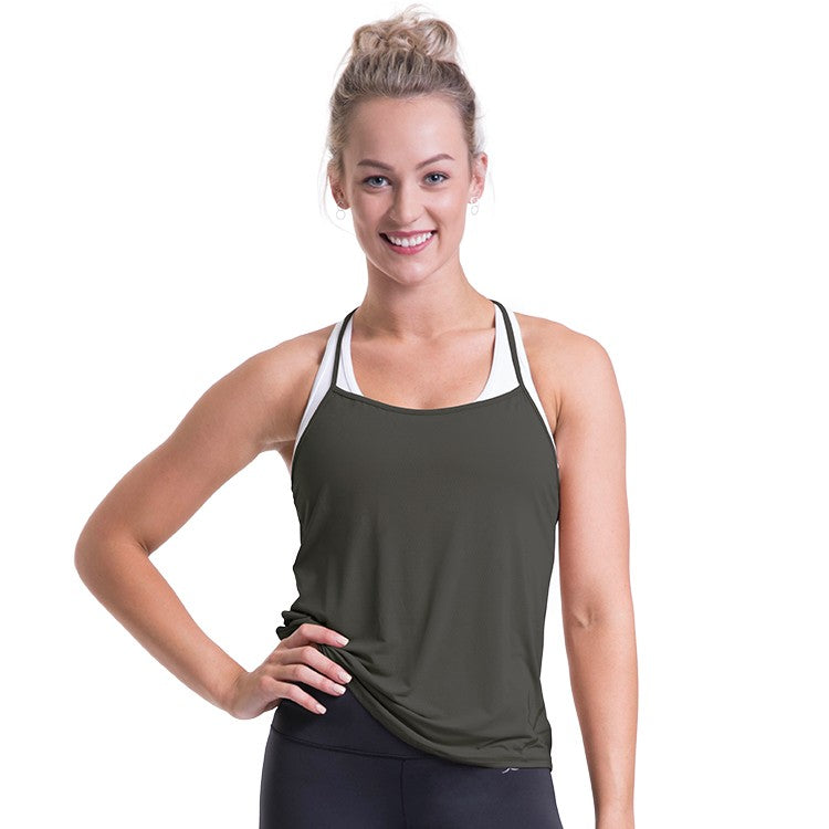 ZST007 – Bloch Studio T Back Branded Singlet Top