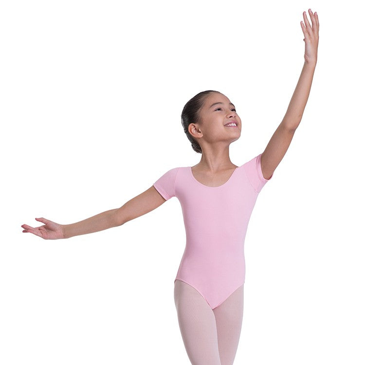 L0802G - Bloch Overture Olisia Short Sleeve Girls Leotard