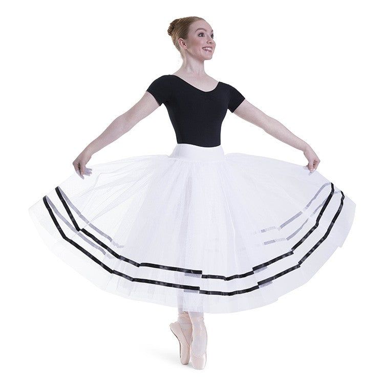 R0131L – Bloch Giselle Womens Ribbon Romantic ½ Tutu Skirt