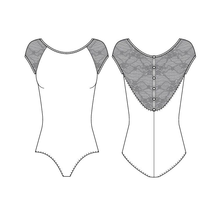 L56042 - Bloch Chiwa Lace Button Leotard Womens Leotards