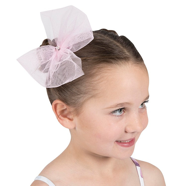 A0050 – Bloch Danse Tulle Bow & Diamante Hair Clip
