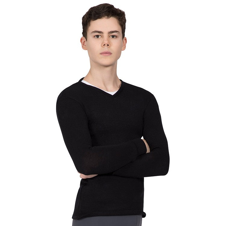 Z0107M – Bloch Vancouver V Neck Long Sleeve Mens Knitted Top