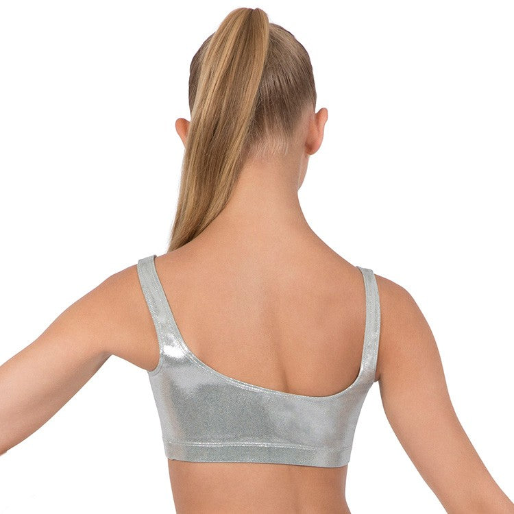 ZL5111 - Leo Basic Foil Tank Crop Top