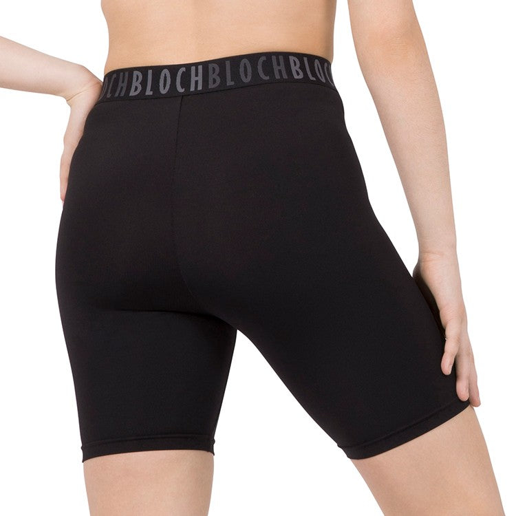 DST59814 – Bloch Branded Elastic High Waist Bike Short