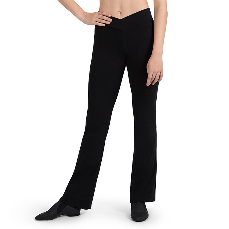 P3401LN – Bloch V Front Womens Full Length Jazz Pants