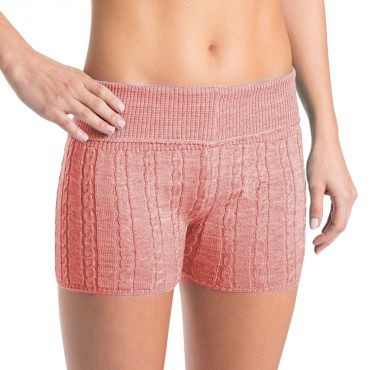D0113 – Bloch Carezza Cable Knit Womens Fold Down Short