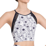 "Z0001L - Danse De Paris ""Suzette' Womens Crop Top"