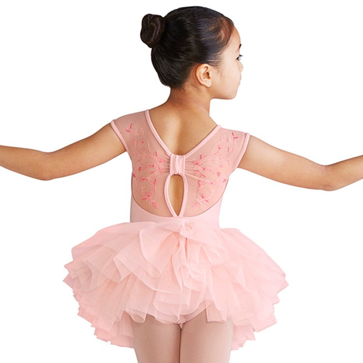 LM51207G – Mirella Blossom Embroidered Bow Back Girls Tutu Dress