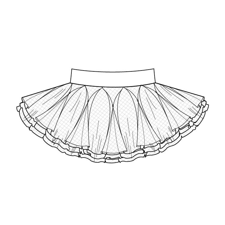A51621 – Bloch Tutu Skirt Womens Skirt