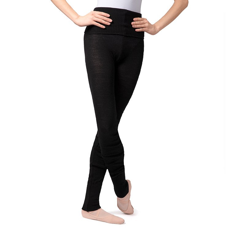 T0105 – Bloch Full Length Roll Waist Womens Warmup Pant