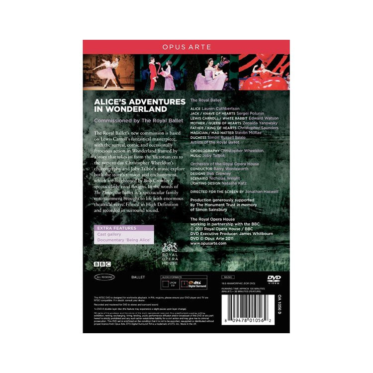 71016 - The Royal Ballet. Alice's Adventures In Wonderland DVD