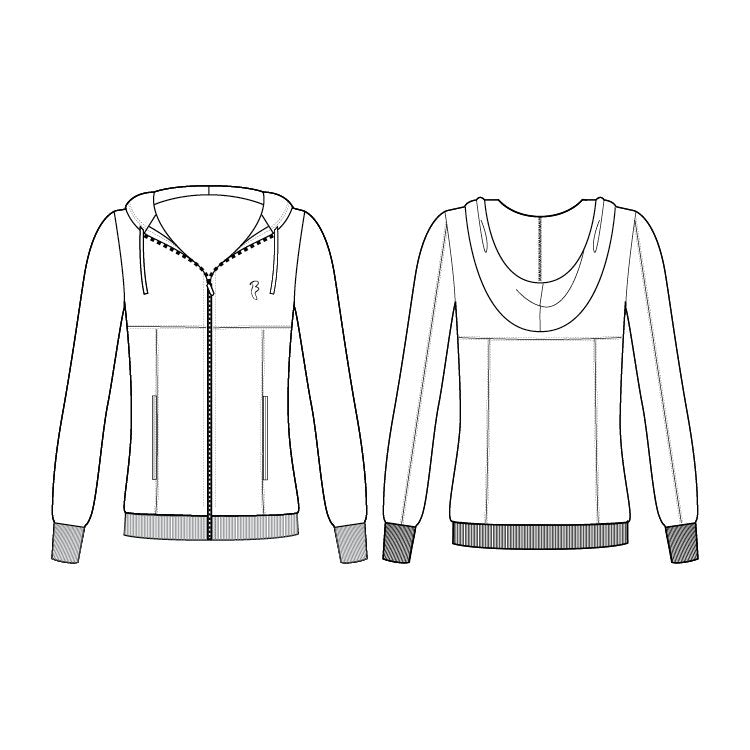 JF5499 - Bloch Long Sleeve Womens Hip Jacket