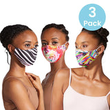 A5005AP - Bloch B-Safe Adult Print Lanyard Face Mask 3 Pack Assorted