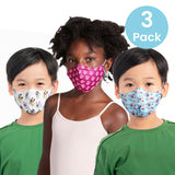 A5005CP - Bloch B-Safe Childrens Print Lanyard Face Mask 3 Pack Assorted