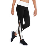 TBM5250G - Bloch Contrast X Mesh Panel Girls Full Length Legging