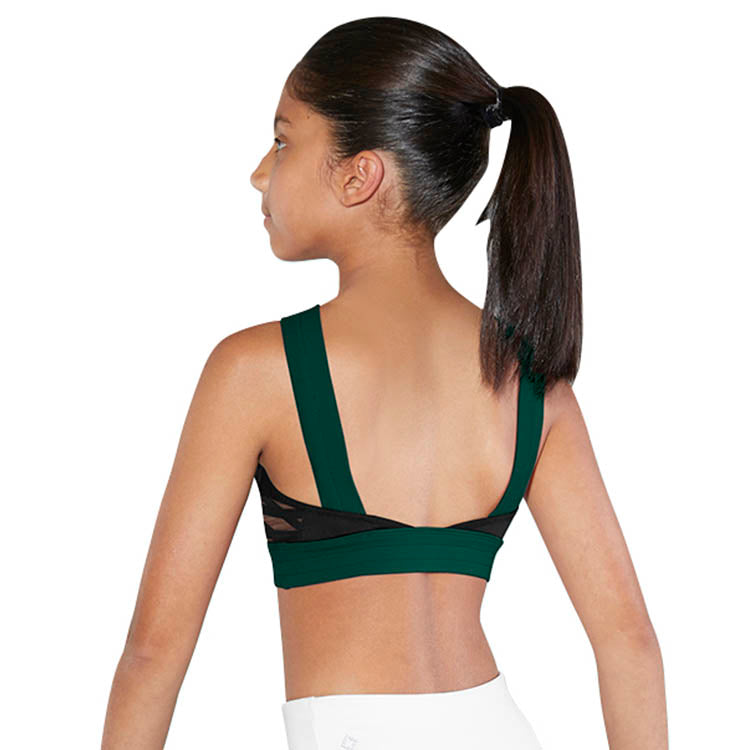ZBM5247G - Bloch High Neck Colour Block Girls Crop Top