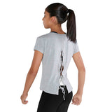 ZBM5254G - Bloch Lace Up Back Girls Short Sleeve T-Shirt