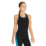 ZS55132G - Bloch Hula Mesh Yoke T Bar Girls Tank Top