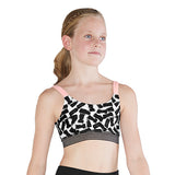 ZBM5240G - Bloch Cezanne Print Scoop Front V Back Girls Crop Top