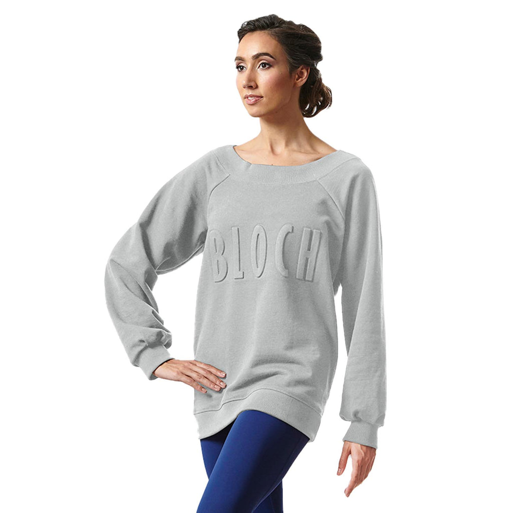 Z55187 - Bloch Logo Oversized Womens Pullover Sweater