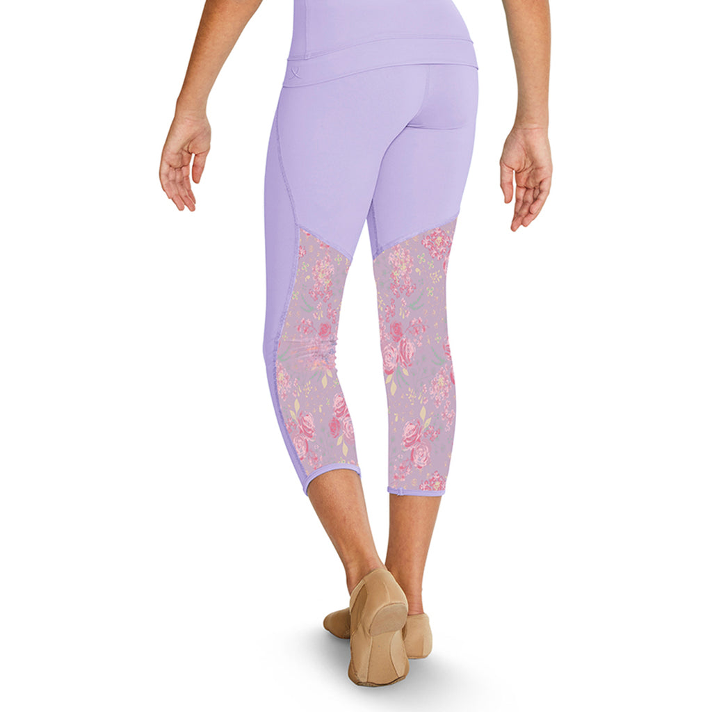 TS55114G - Bloch Namia Floral Printed Mesh 7/8 Girls Leggings