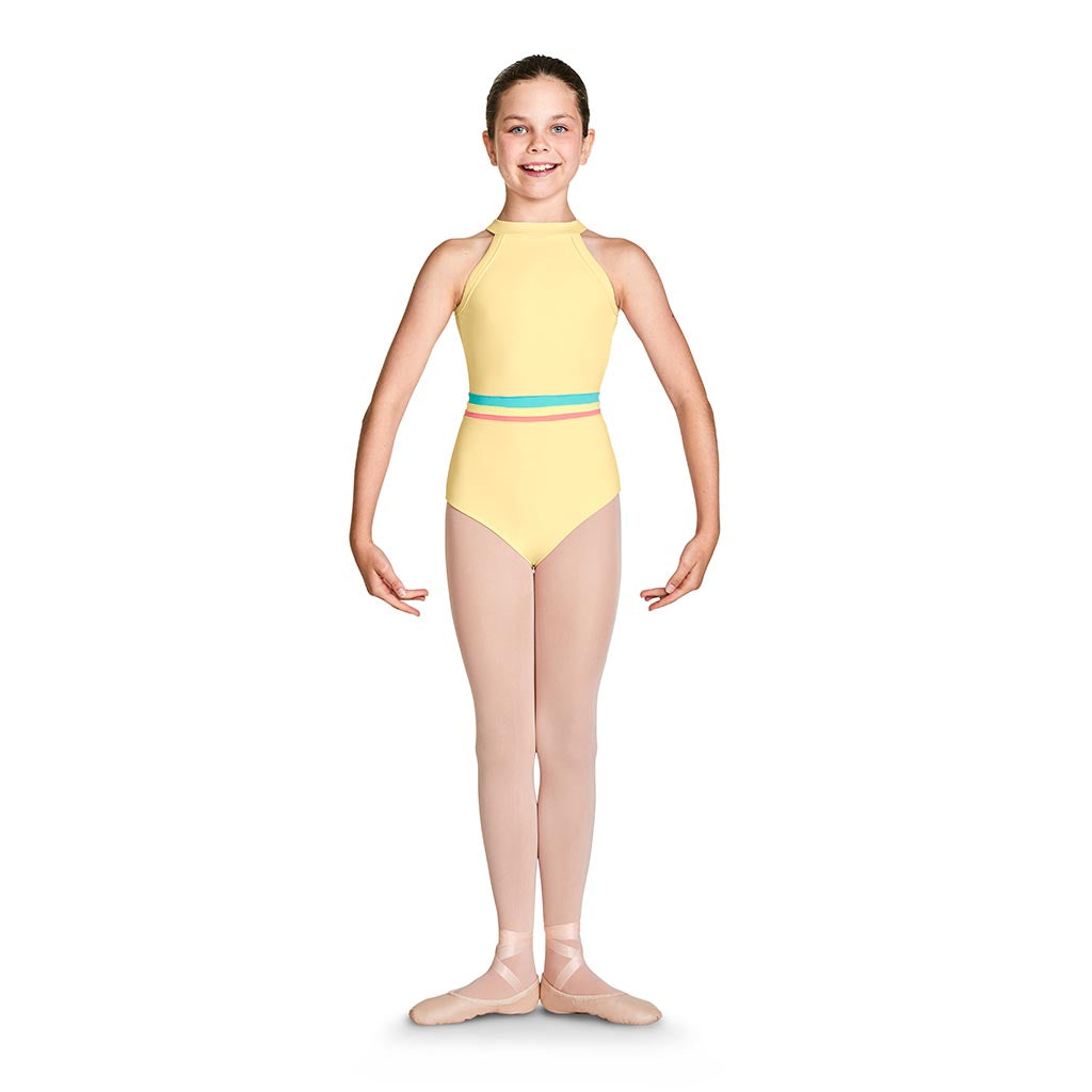 L57845G - Bloch Aisha Gelato Waistband Girls High Neck Leotard
