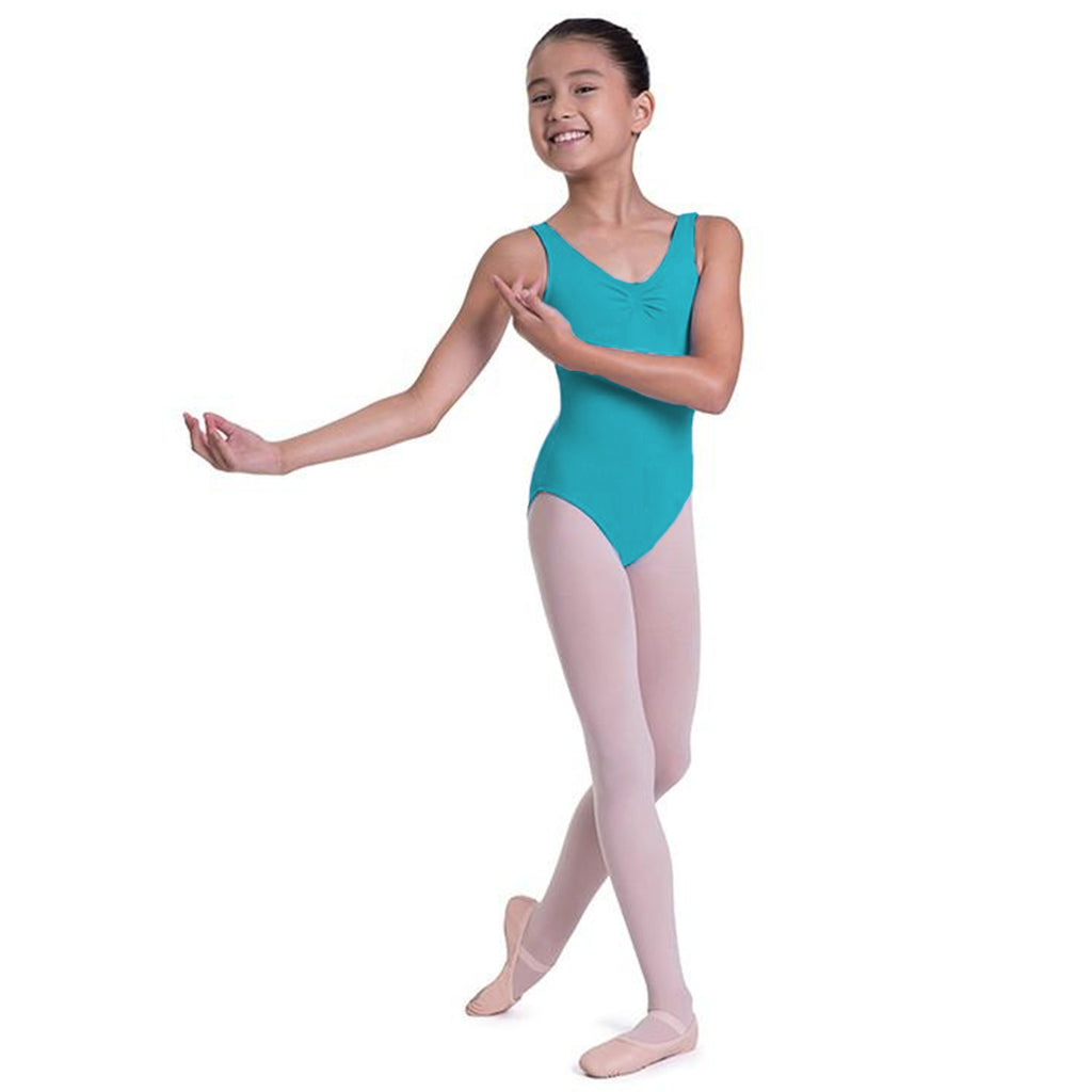 L0828G - Bloch Overture Odetta Sleeveless Pleat Girls Leotard