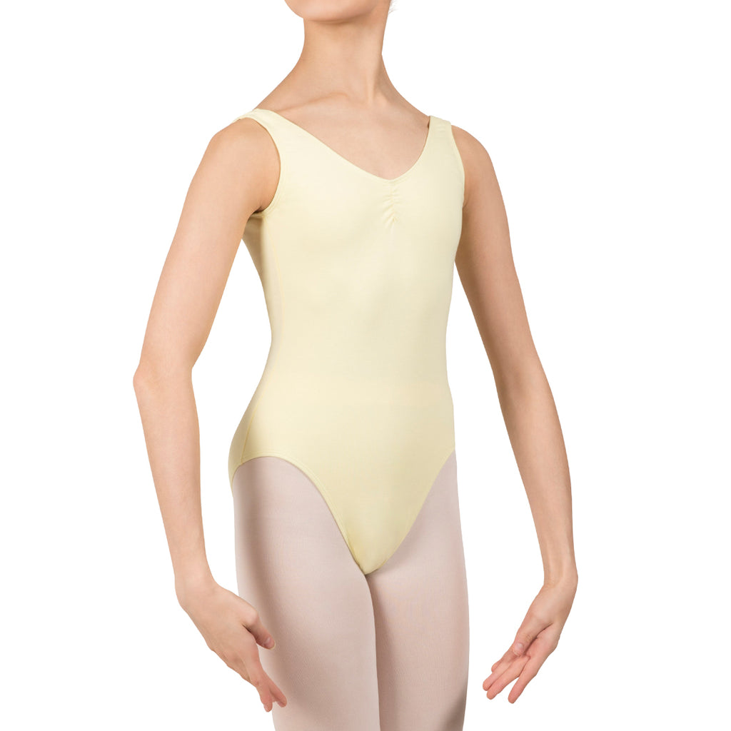 L3488GAB - Bloch Gathered Front With Low Back Girls Leotard
