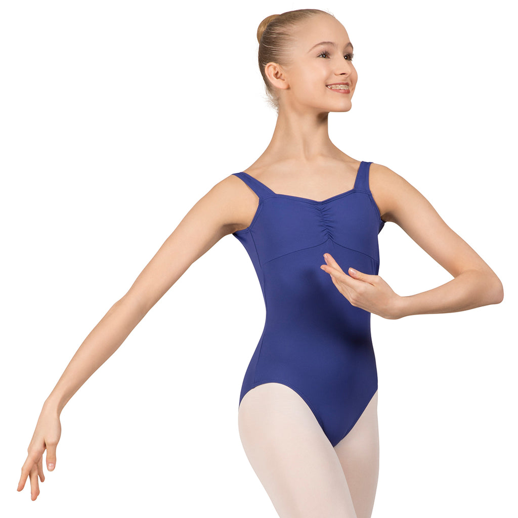 L3866SB - Bloch Microlux™ Gayleena Empire Gathered Front Wide Strap Leotard