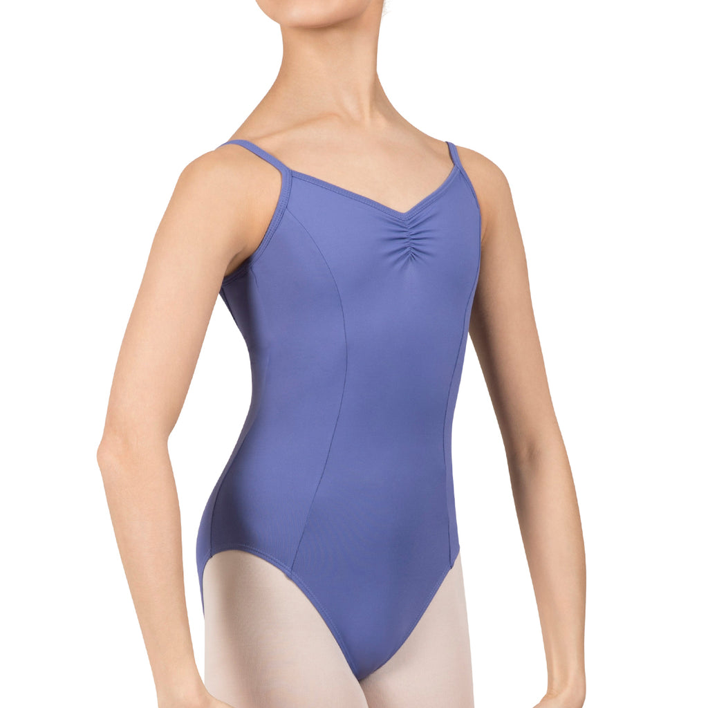 L3835SB - Bloch Microlux™ Cherie Princess Cami Gathered Front & Back Leotard