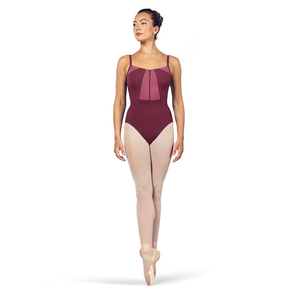 L54927 - Bloch Vilette Zip Front Open Back Womens Camisole Leotard