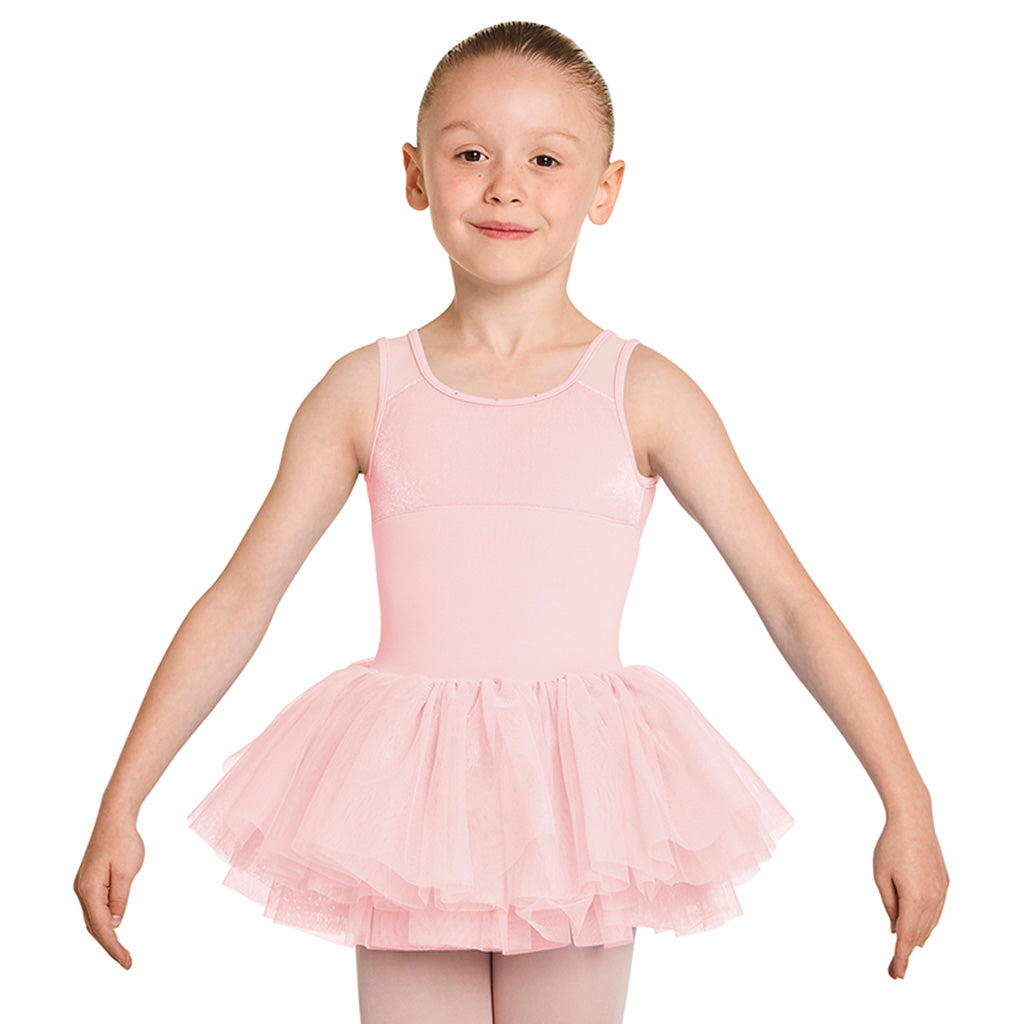 LM5456G - Mirella Diamante Neckline Velvet Bodice Girls Tank Tutu Dress