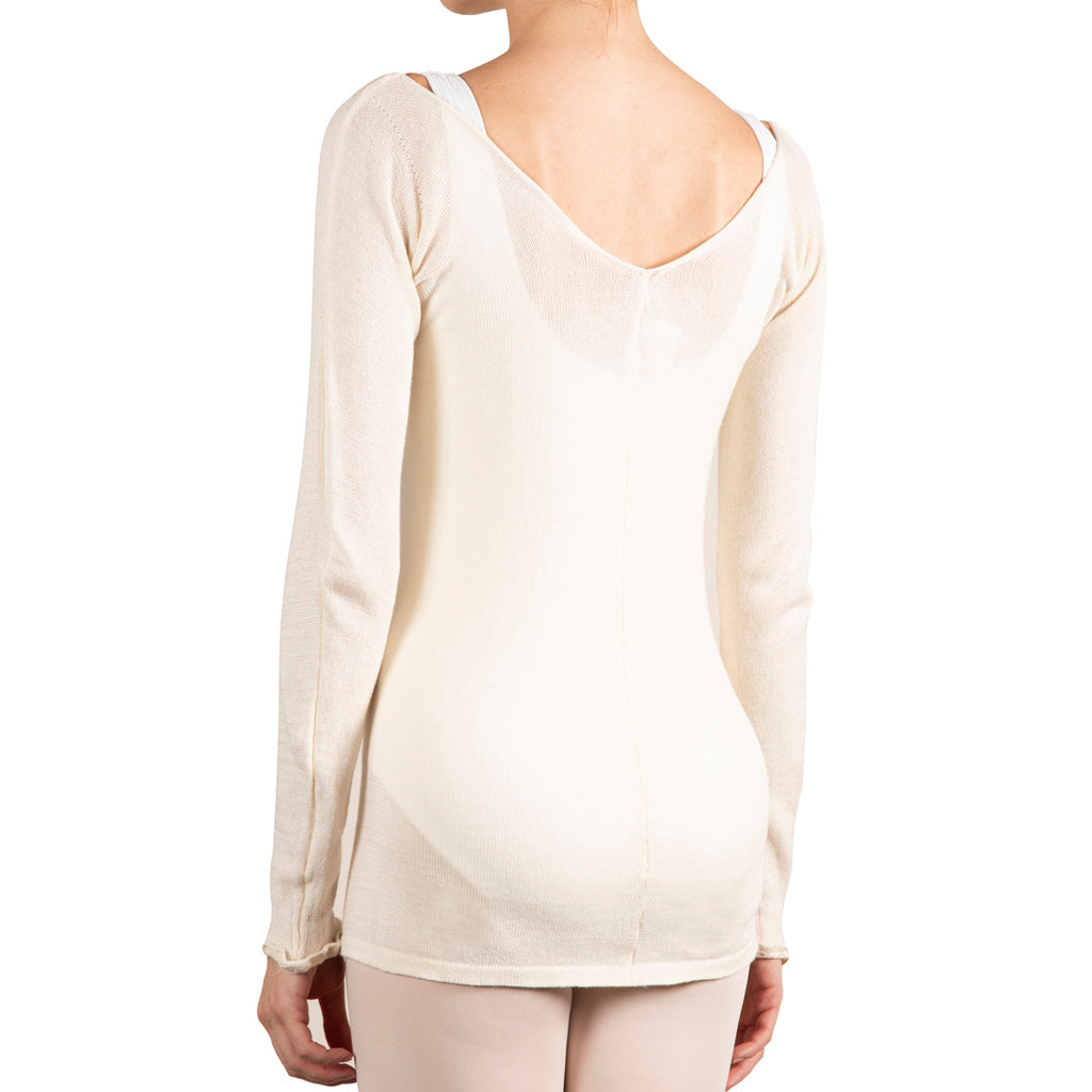 Z0145 - Bloch Cotton V Neck Womens Long Sleeve Top