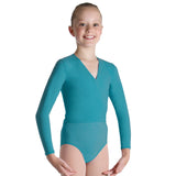 Z0858G - Bloch Overture Crossover Girls Long Sleeve Wrap Top
