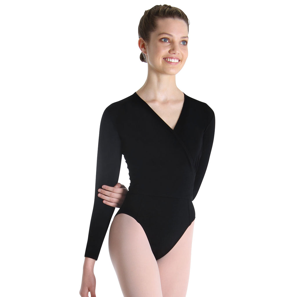 Z0858L - Bloch Oveture Crossover Womens Long Sleeve Wrap Top