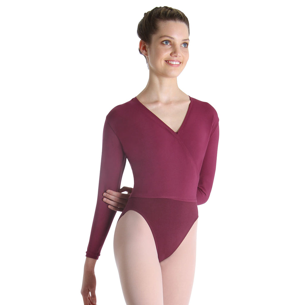 Z0858L - Bloch Overture Crossover Womens Long Sleeve Wrap Top