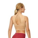 ZP53565 - Bloch Gracen Abstract Stripe Mesh High Neck Womens Performance Crop Top