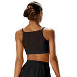 ZMP57047 - Mirella Lace Insert Wide Cami Womens Crop Top