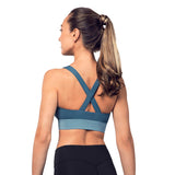 ZS55199 - Bloch Colour Panelled Cross Back Womens Crop Top