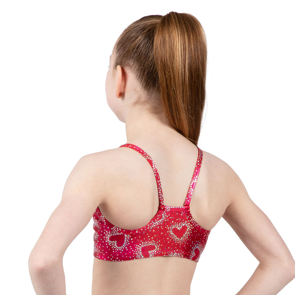Z3222G - Bloch Las Vegas Girls Gymnastics Crop Top