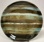 Bowl - Brown Stripe Stacked Glass