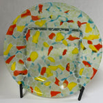 Bowl - Clear Confetti Stacked Glass