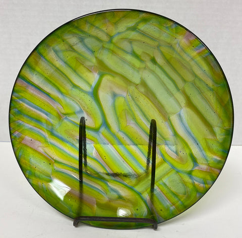 Bowl - Green Stacked Glass