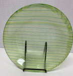 Bowl - Green Stripe Stacked Glass