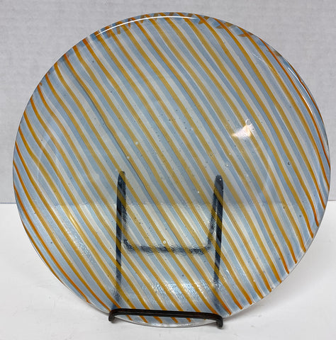 Plate - Orange Stripe Stacked Glass