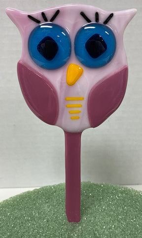 "Plant Buddy - 3"" Pink and Purple Owl"