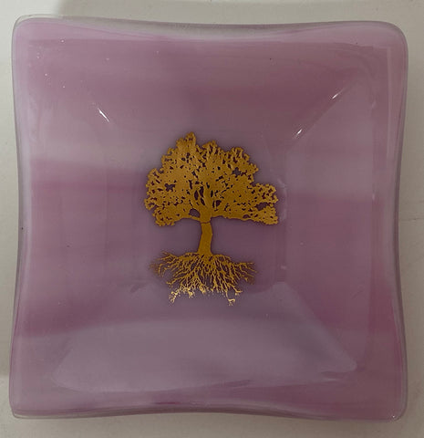 Plate - Pink Tree of Life