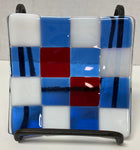 Plate - Red White and Blue Checkered