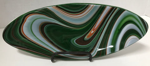 Tray - Oval Green Red White