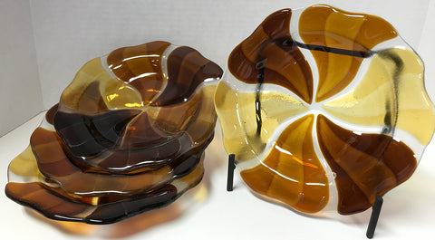 Bowl - Amber Burst (4 piece set)